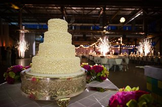 white-wedding-cake-covered-in-white-beads