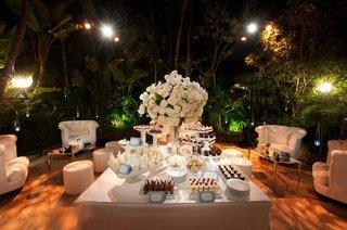 plush-white-chairs-around-wedding-dessert-table