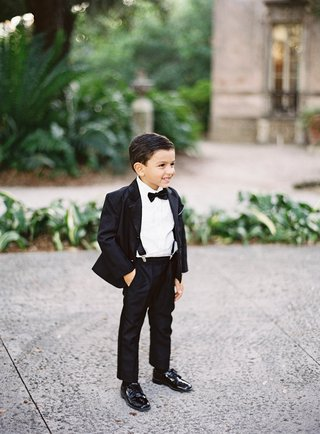 ring-bearer-in-patent-leather-shoes-suspenders-tuxedo-bow-tie-miami-wedding