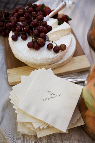 cute-custom-napkins-and-slices-of-brie