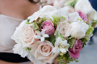 pink-and-white-flowers-with-greenery