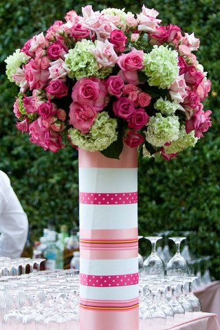 polka-dot-and-stripes-paper-wrapped-vase