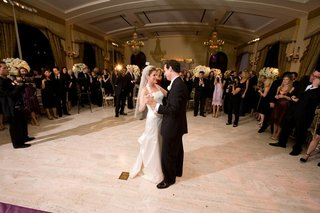 wedding-guests-watch-bride-and-groom-dancing