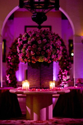 purple-and-pink-flowers-and-lighting
