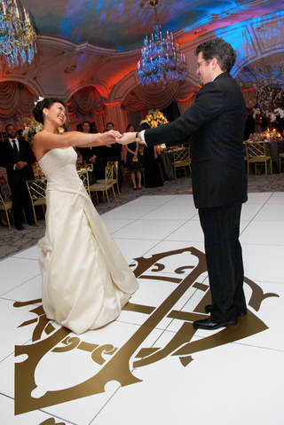 first-dance-on-monogram-wedding-reception-dance-floor