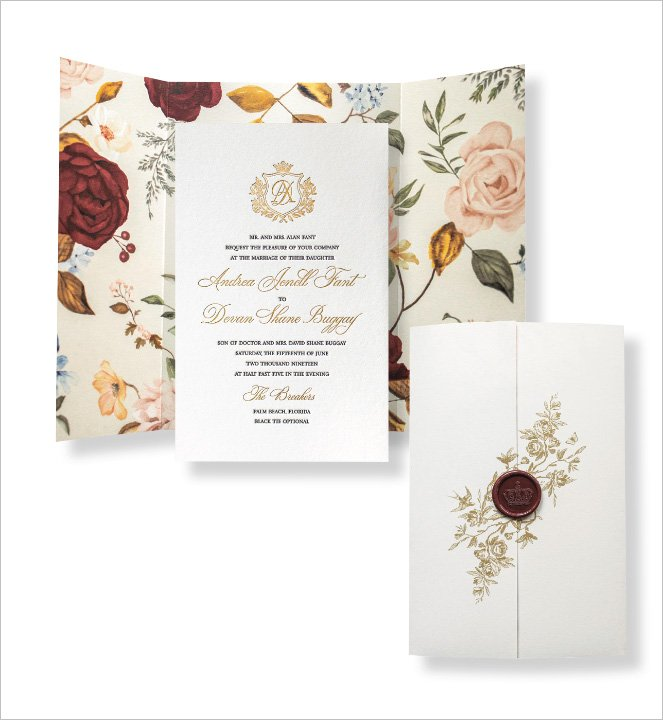 Garden Wedding Invitation by Atelier Isabey