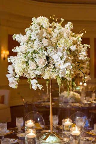 orchid-rose-hydrangea-wedding-table-centerpiece