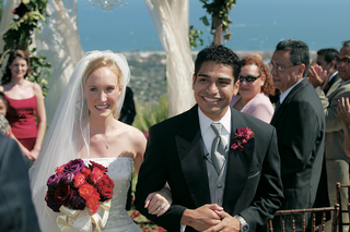 bride-and-groom-walk-up-aisle-of-ocean-view-ceremony