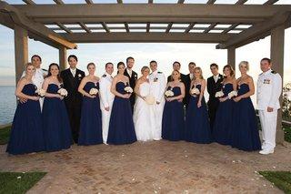 blue-bridesmaid-dresses-and-navy-dress-whites