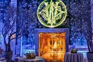 blue-reception-lighting-with-green-gobo-monogram