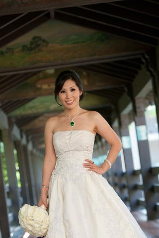 chinese-american-bride-in-wedding-dress