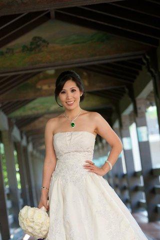 chinese-american-bride-in-wedding-dress