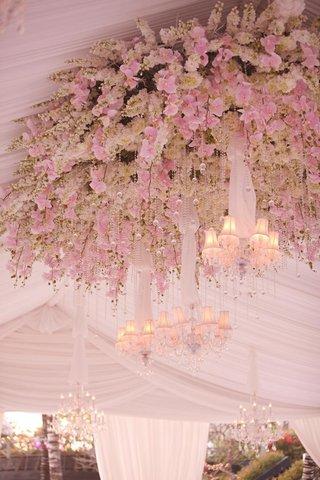 tent-wedding-ceiling-flower-chandelier-treatment