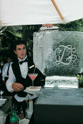 bartender-pours-martini-down-ice-sculpture-into-martini-glass