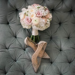ivory-and-blush-rose-bridal-bouquet-christian-louboutin-bridal-shoes-with-mesh-and-rhinestones