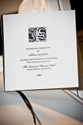 ceremony-program-in-black-and-white