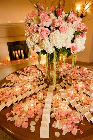 seating-cards-on-round-table-covered-in-petals