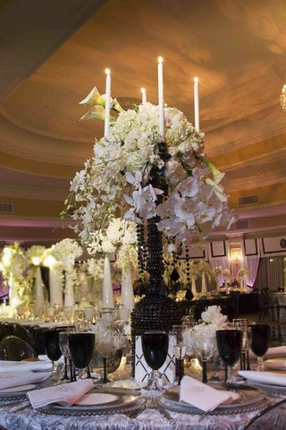 candelabra-decorated-with-florals-and-black-crystals