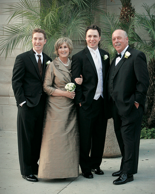 mother-of-the-groom-taupe-dress-and-boys