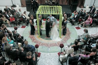 ceremony-in-the-round-with-chuppah-decorated-with-green-dendobrium-orchids