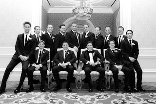 black-and-white-photo-of-groomsmen-in-thrones