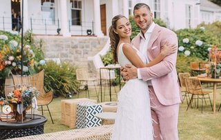 Tim Tebow and Demi-Leigh Nel-Peters wedding photo