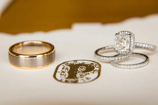 gold-wedding-band-and-diamond-eternity-bands