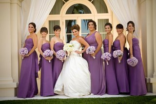armenian-bride-with-her-bridesmaids-in-strapless-gowns