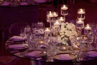 low-centerpiece-arrangement-on-glass-reception-table