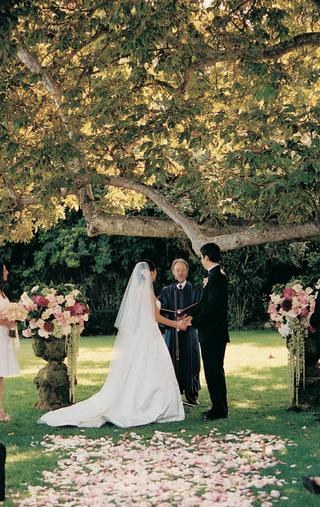 bride-and-groom-married-alfresco-under-tree