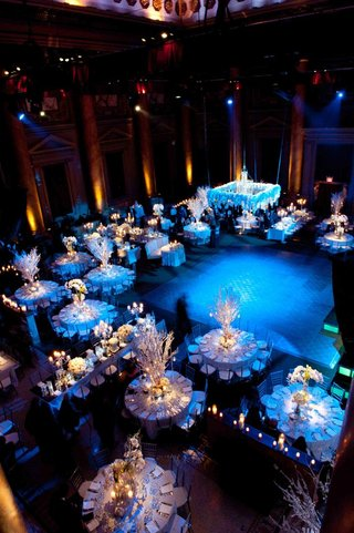 aerial-view-of-blue-winter-wedding-reception