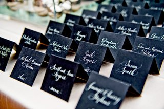 white-calligraphy-lettering-on-ebony-seating-cards