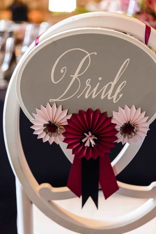 bride-sign-on-back-of-chair-with-horse-show-ribbons