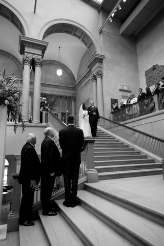 black-and-white-photo-of-art-institute-ceremony