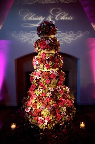 hand-painted-flower-wedding-cake