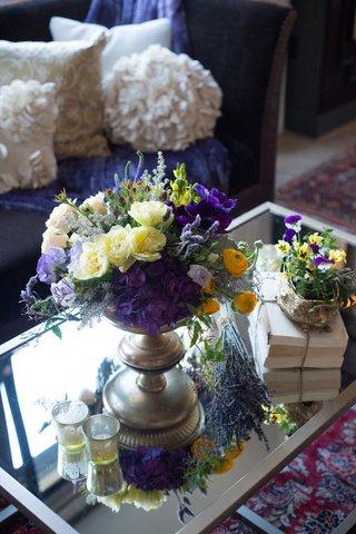 coffee-table-centerpiece-display-new-york-city-bridal-shower-wedding-reflective-garden-inspiration
