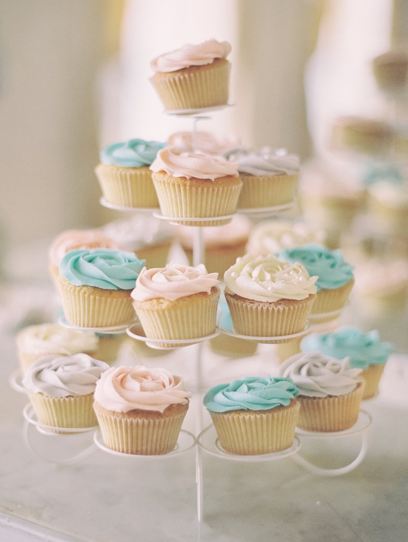 Tower of Pastel Cupcakes