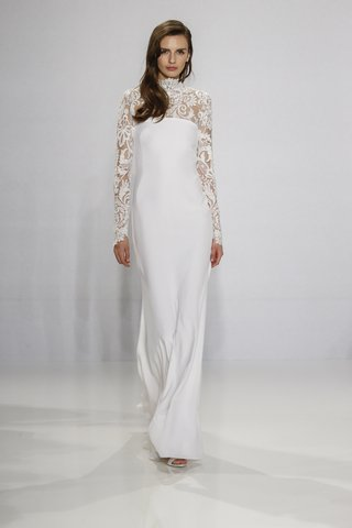 christian-siriano-for-kleinfeld-bridal-long-sleeve-lace-wedding-dress-with-high-neck-and-column-gown