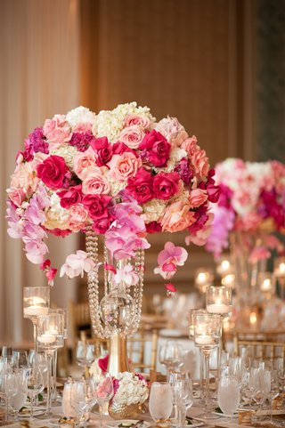 flower-centerpiece-with-white-hydrangeas-pink-orchids-shades-of-pink-roses