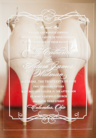 clear-transparent-acrylic-wedding-invitations-with-christian-louboutin-heels