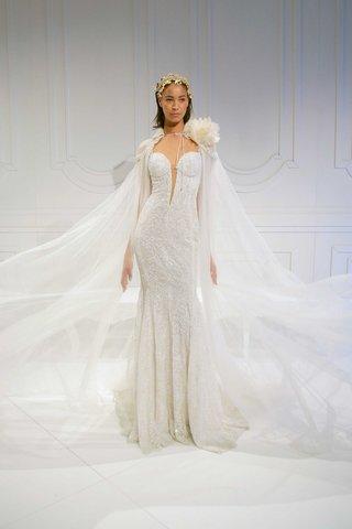 le-secret-royal-bridal-collection-galia-lahav-deep-plunging-v-neck-beaded-wedding-dress-with-cape