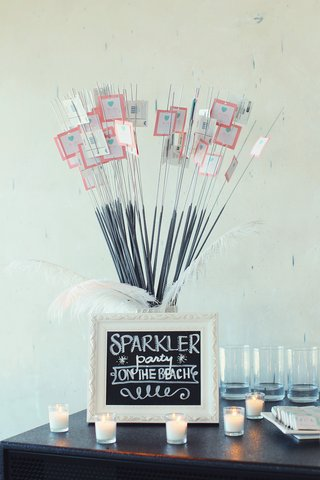 chalkboard-sign-for-sparkler-party-and-custom-tags