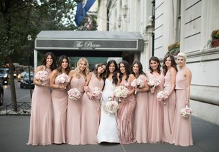bride-in-strapless-monique-lhuillier-bridesmaids-in-pink-monique-lhuillier-blush-dresses-the-pierre