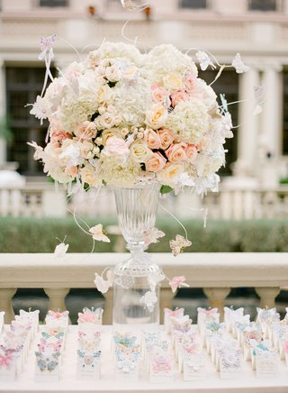 clear-vase-topped-with-romantic-flowers-and-butterflies