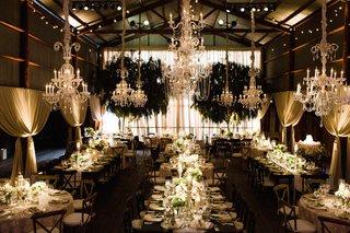 tin-barn-wedding-with-crystal-chandeliers-and-drapery