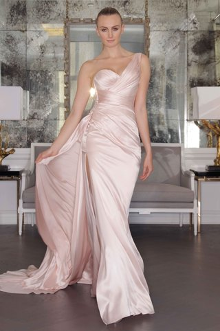 romona-keveza-luxe-bridal-fall-2016-light-pink-one-shoulder-wedding-dress
