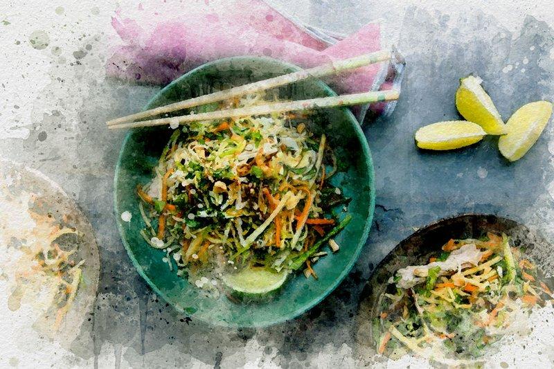 Cambodia Chicken Mango Salad