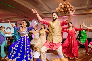 sangeet-reception-party-south-asian-couple-joining-the-dance-performers