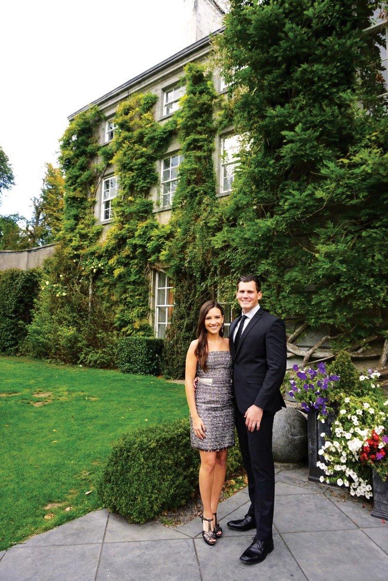 Honeymooners at Wedding in Kilkenny, Ireland
