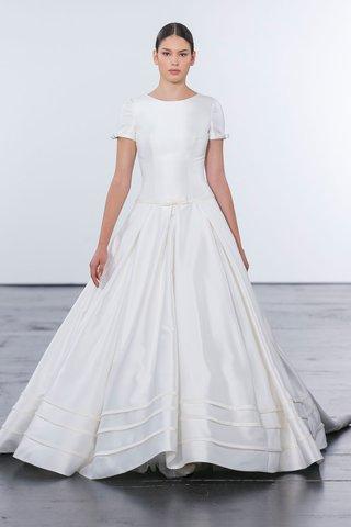 dennis-basso-for-kleinfeld-2018-collection-wedding-dress-high-neck-short-sleeve-gown-drop-waist